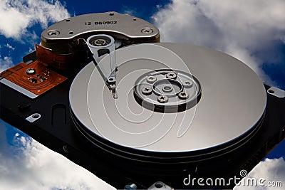 在天空的磁盘驱动器