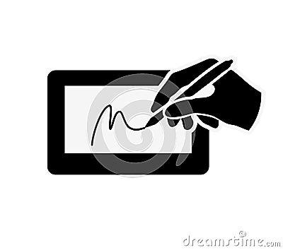 在标志垫例证的数字签名.图片