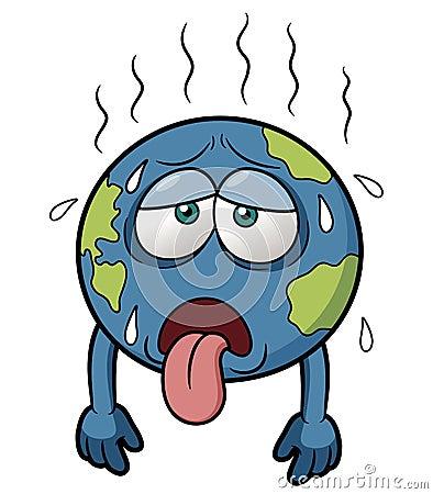 在热天气的地球