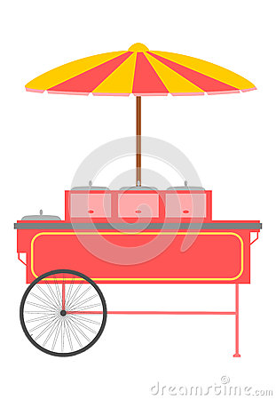 快餐台车。