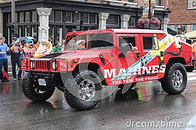 在百老汇的游行在纳稀威,田纳西 编辑类库存图片