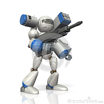 在科幻的作战机器人