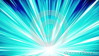 在空间的Starburst光芒 动画片射线圈动画 将来的技术概念背景 与线的爆炸星