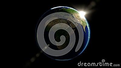 在空间的地球地球 股票录像
