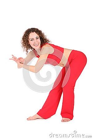 在舞蹈的瑜伽执行