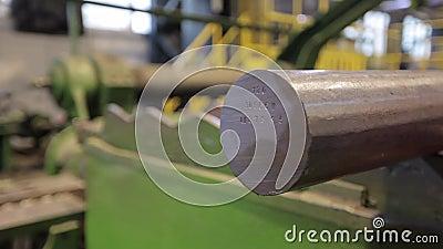 在金属原材料的标记锤击 影视素材