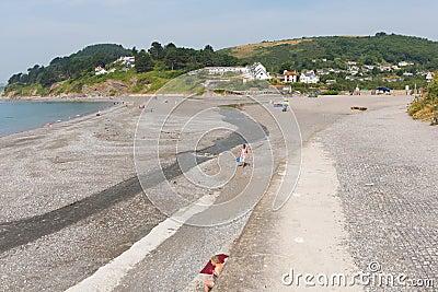 在Looe英国,联合王国附近的西顿海滩康沃尔郡 编辑类库存图片