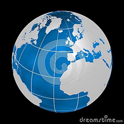 3d蓝色地球hq图象银.
