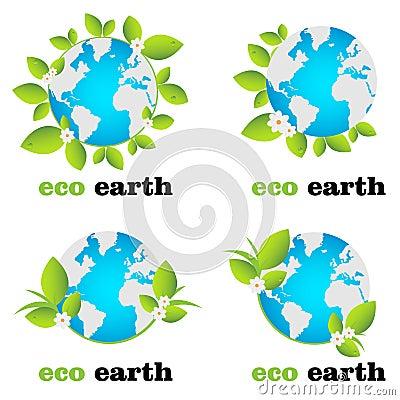 地球eco徽标