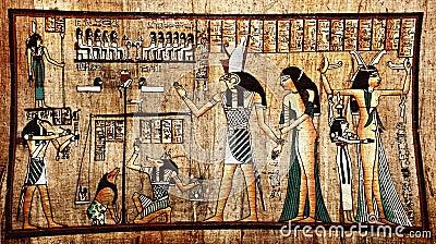 古老埃及纸莎草法老王.