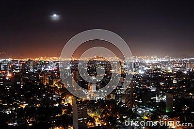 城市墨西哥晚上