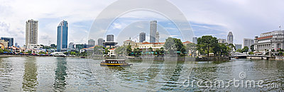 城市新加坡视图 图库摄影片