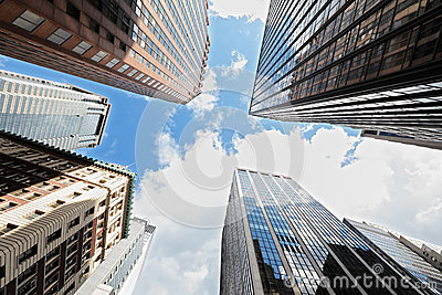城市新的摩天大楼约克