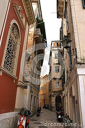 城市corfu希腊爱奥尼亚人海岛海运