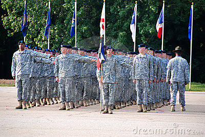 培训我们的基本的毕业战士 编辑类库存照片