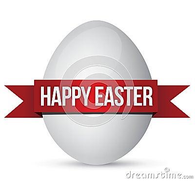复活节彩蛋和横幅