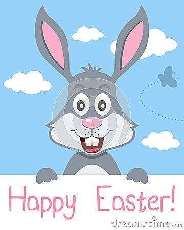 复活节兔子贺卡