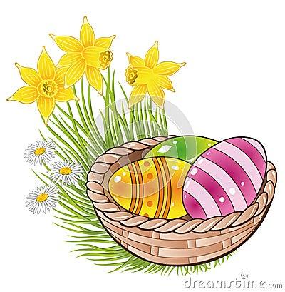 复活节,鸡蛋,篮子