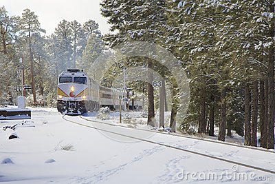 大峡谷铁路在冬天