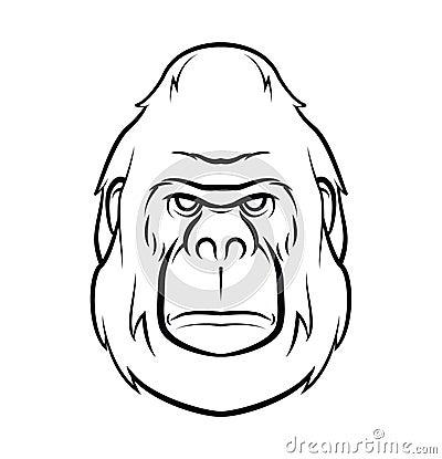 大猩猩纹身花刺eps 10例证设计.