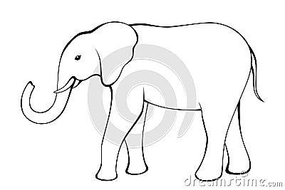 大象黑白色被隔绝的例证传染媒介.图片