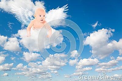 天使婴孩覆盖翼