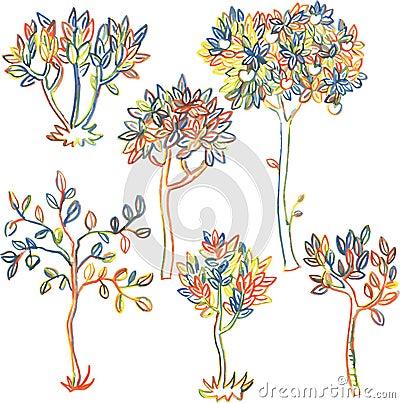 套不同的落叶树图片
