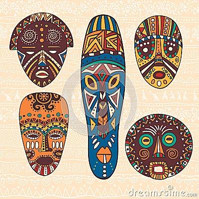与非洲样式的明亮的装饰例证 可以用于织品设计为做衣裳,辅助部件