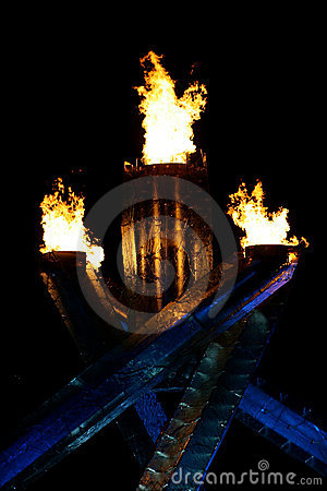 奥林匹克的火焰 图库摄影片