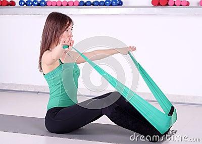 女孩健身重新创建