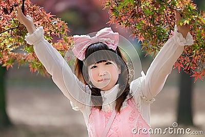 女孩日语 图库摄影 图片