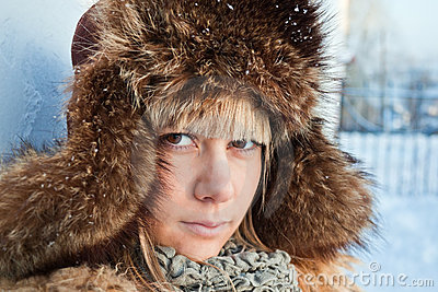 女孩纵向冬天