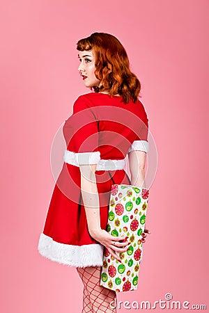 女性圣诞老人