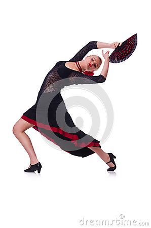 女性舞蹈家跳舞