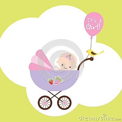 女婴婴儿推车
