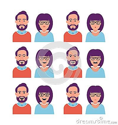 妇女和人表情图片