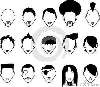 15个头发男集合样式.图片