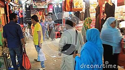 孟加拉国博格拉昌迪市场人物 影视素材
