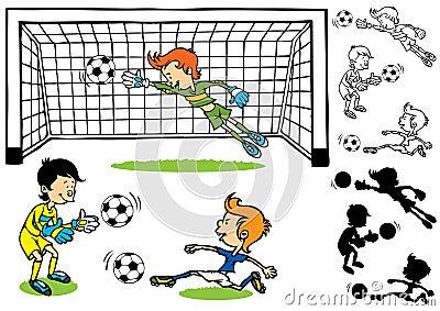 守门员足球孩子图片