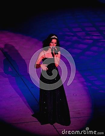 安妮・玛丽roddy歌唱家 图库摄影片