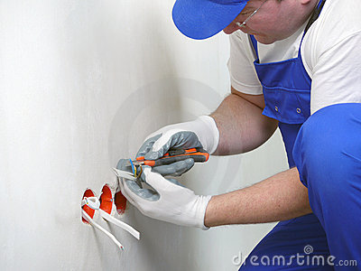 安装插口墙壁