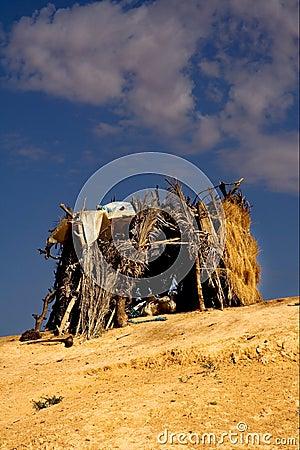 客舱在撒哈拉大沙漠