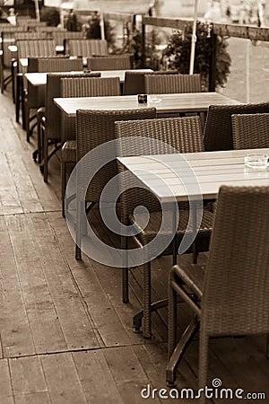 室外夏天咖啡馆