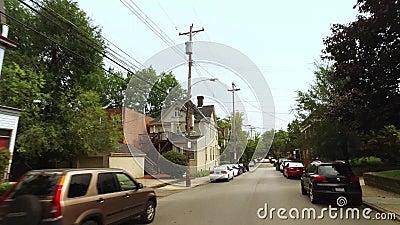 家在匹兹堡Shadyside地区 股票录像