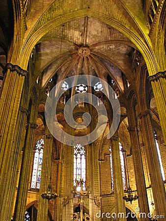 巴塞罗那大教堂 库存照片 图片 17585750