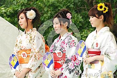 富士City小姐在富士市节日的 图库摄影片