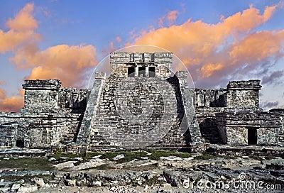 寺庙在Tulum,墨西哥