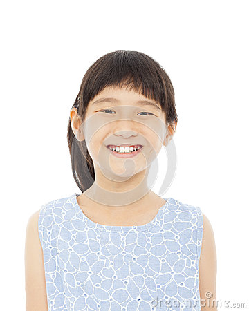 小女孩愉快的表情特写镜头图片