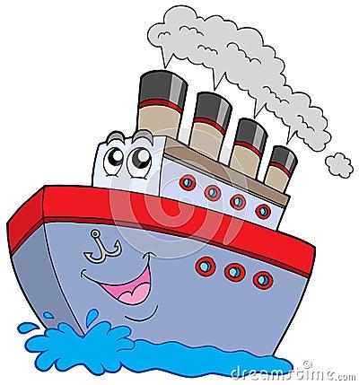 背景小船动画片例证向量白色.图片