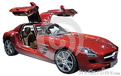 小轿车查出的豪华红色